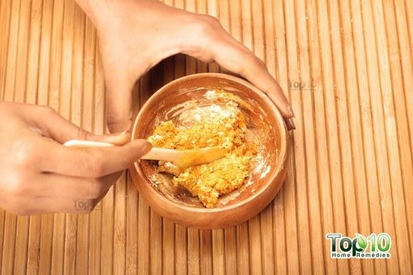 turmeric gram flour mask s4 mix