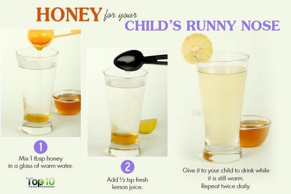 honey for runny nose in children