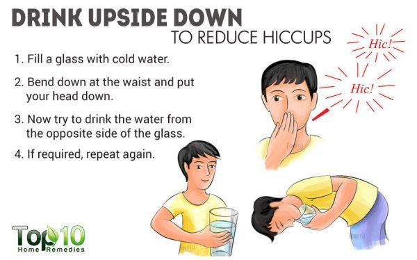 drink water upside down to stop hiccups