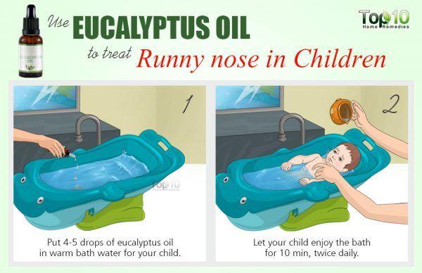eucalyptus oil for runny nose in children