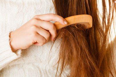 dry damaged hair