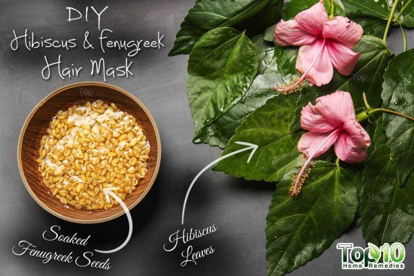 homemade hibiscus fenugreek hair mask ingredients