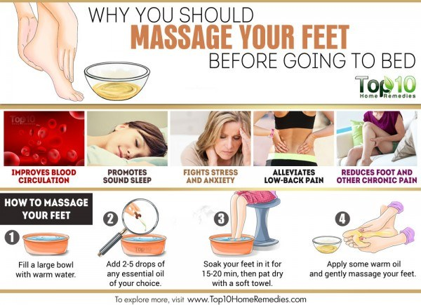 massage your feet before bed