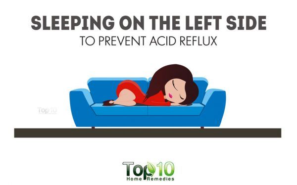 sleep on your left side to prevent acid reflux