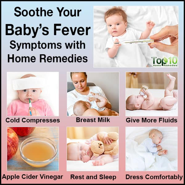 home remedies to soothe baby's fever symptoms