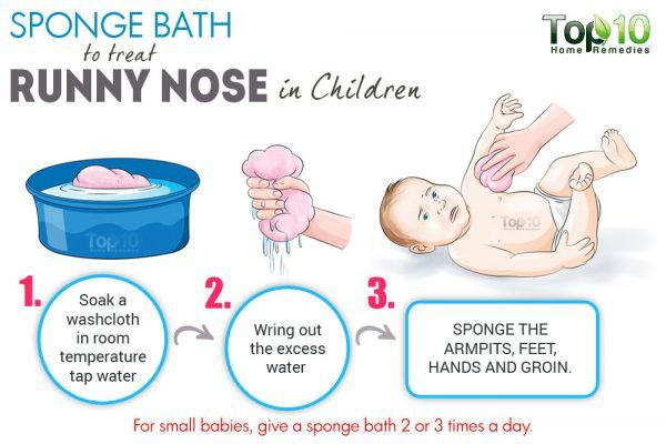 sponge bath for small children