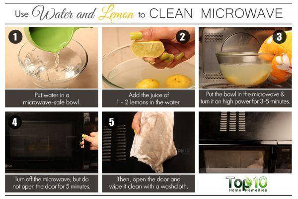 lemon to clean microwave