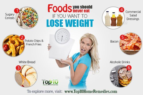 10 foods you should avoid eating to lose weight