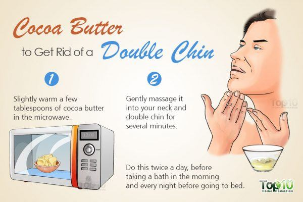 cocoa butter for double chin
