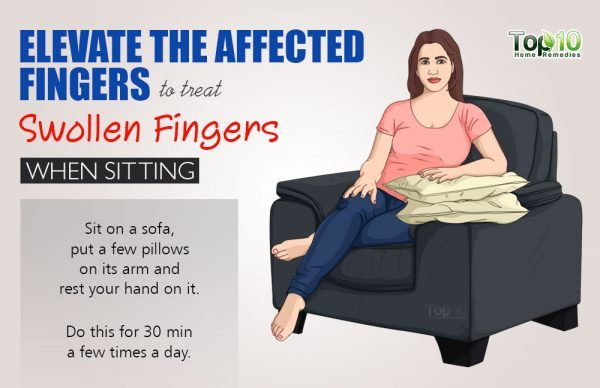 keep your fingers elevated while sitting