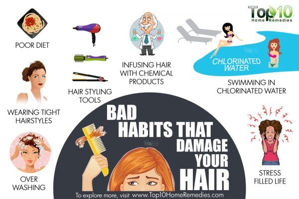 bad habits that damage your hair
