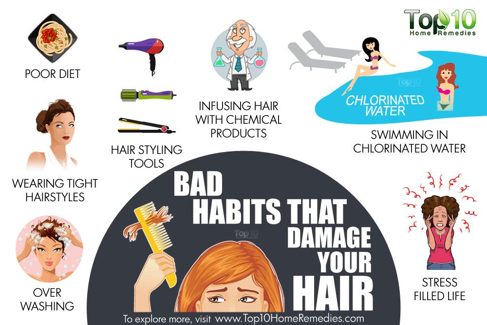 Top 10 Bad Habits That Damage Your Hair Top 10 Home Remedies