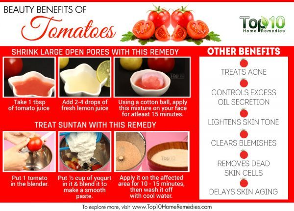 beauty benefits of tomatoes
