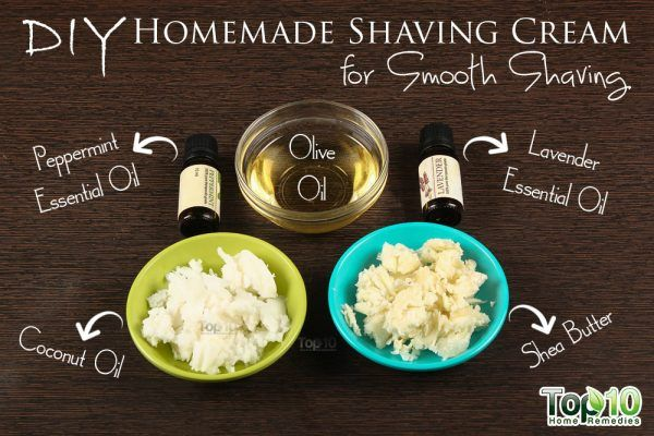 DIY Homemade shaving cream ingredients