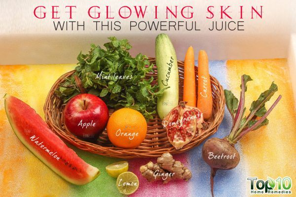 get glowing skin with DIY juice
