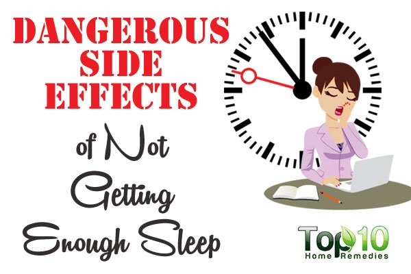 effects of not getting enough sleep When you don't get enough sleep, your body releases more of the stress hormone cortisol in excess amounts, cortisol can break down skin collagen , the protein that keeps skin smooth and elastic.