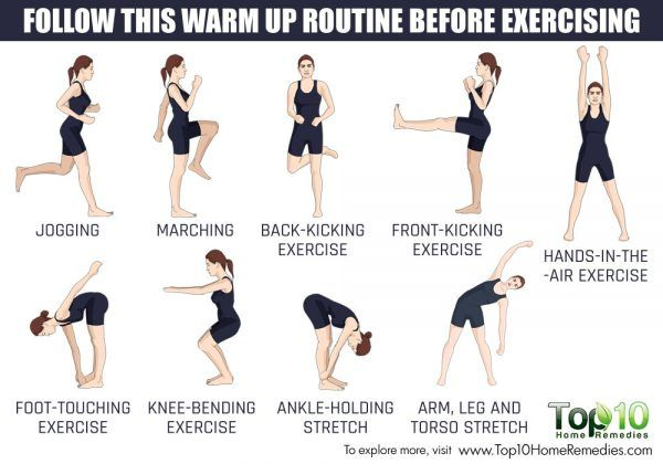how to do warm up exercise