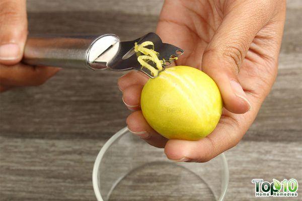 scrape lemon zest