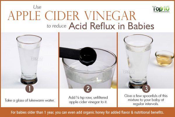 apple cider vinegar for acid reflux in babies