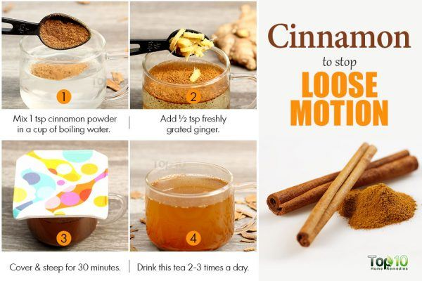 cinnamon to get rid of loose motion