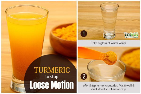 turmeric for loose motion