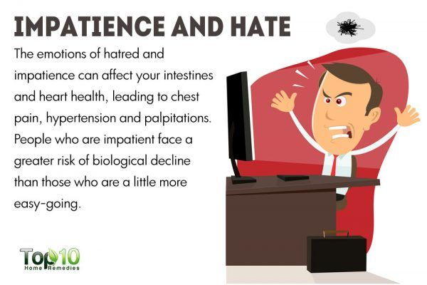 impatience and hate