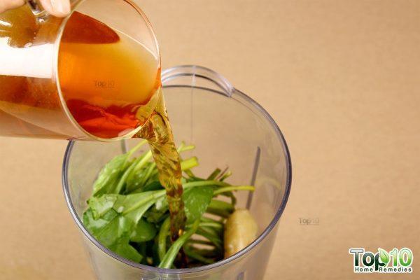 Detox smoothie-add green tea