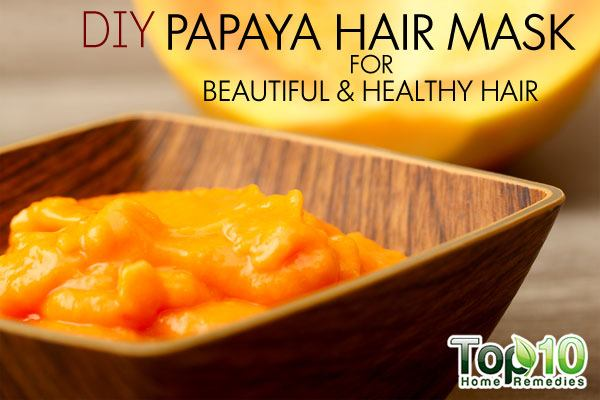 DIY papaya hair mask