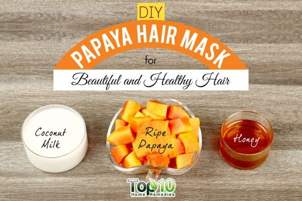 homemade papaya hair mask