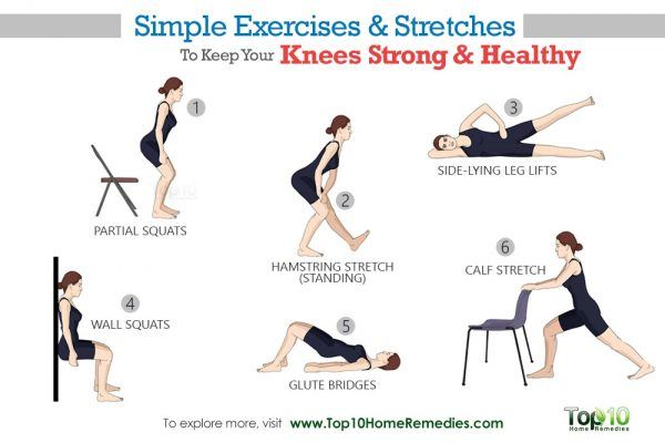 simple exercises and stretches to keep knees strong