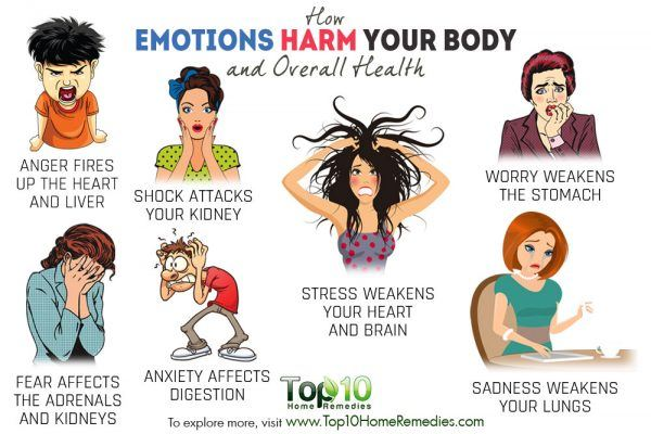 how emotions harm your health