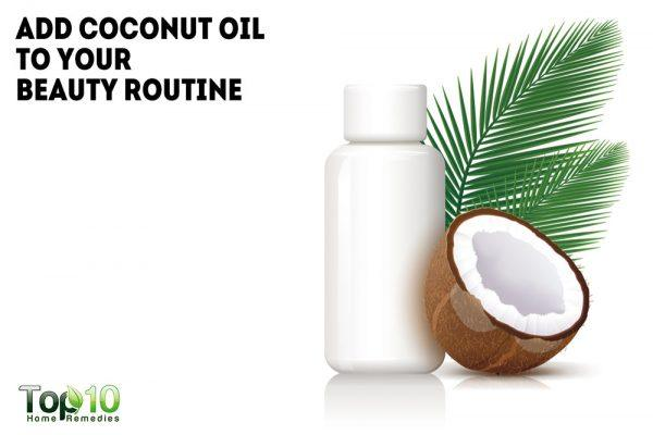 add coconut oil to your beauty routine