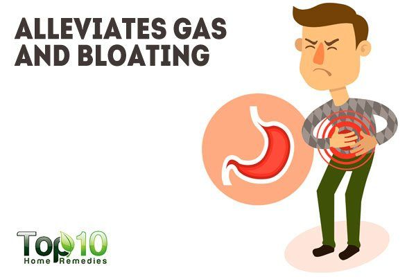 alleviates gas and bloating