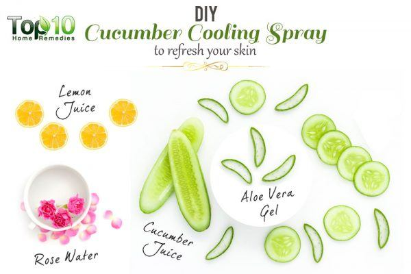 DIY cooling cucumber facial mist