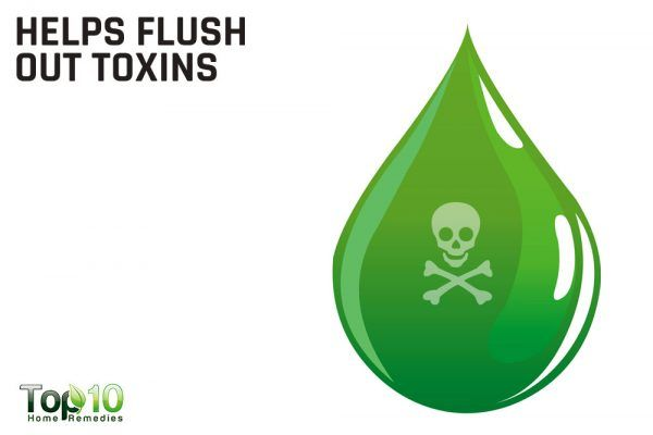 helps flush out toxins