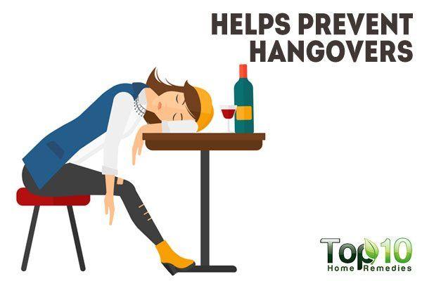 prevents hangover