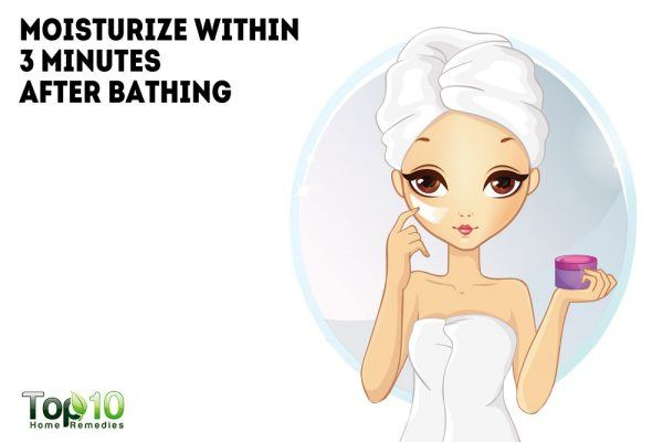 apply moisturizer within 3 minutes of bathing