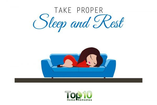 proper rest and sleep