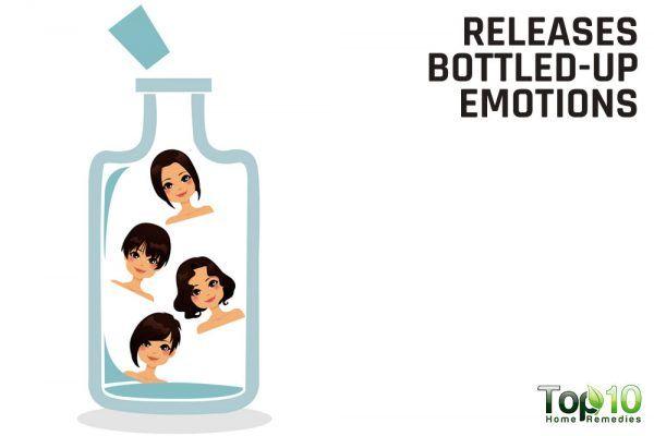 releases bottled up emotions