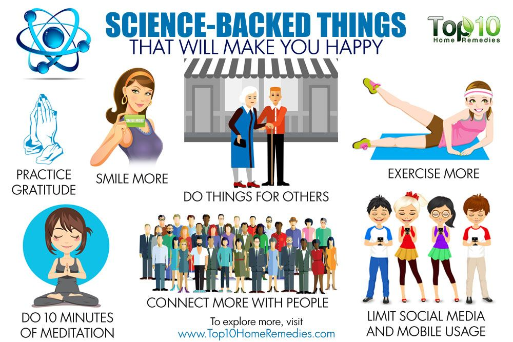 10 science backed things that will make you happy top 10 home remedies. Black Bedroom Furniture Sets. Home Design Ideas