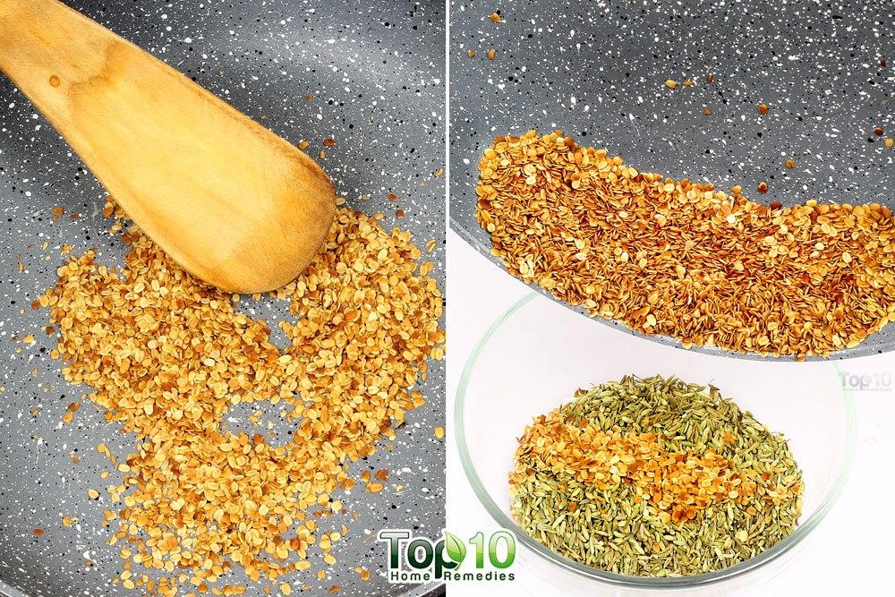dry roast corriander seeds