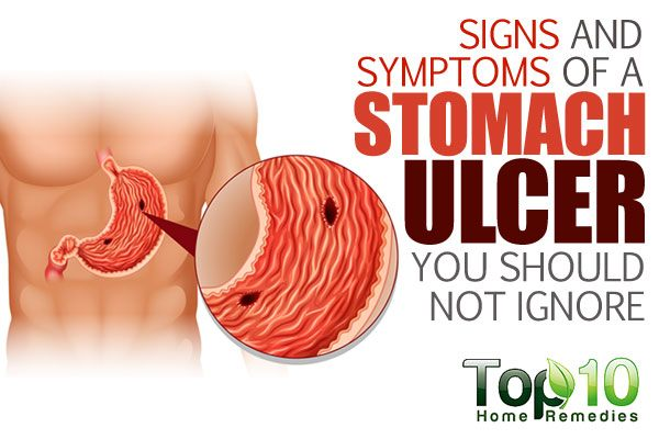 signs and symptoms of stomach ulcers