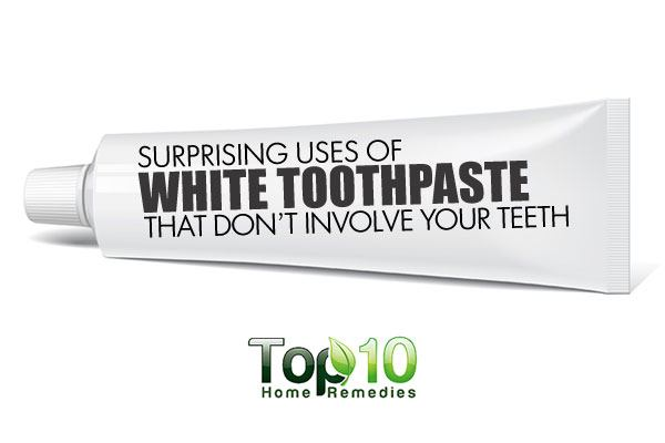10 surprising uses of white toothpaste that don t involve your teeth top 10 home remedies - Keep toothpaste kitchen ...