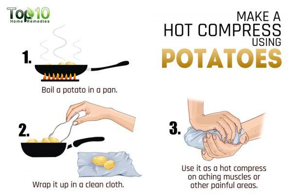 hot or cold compress using potatoes