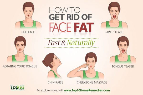 get rid of face fat naturally