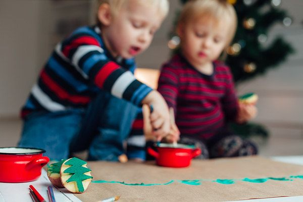 make decorative stamps with potatoes