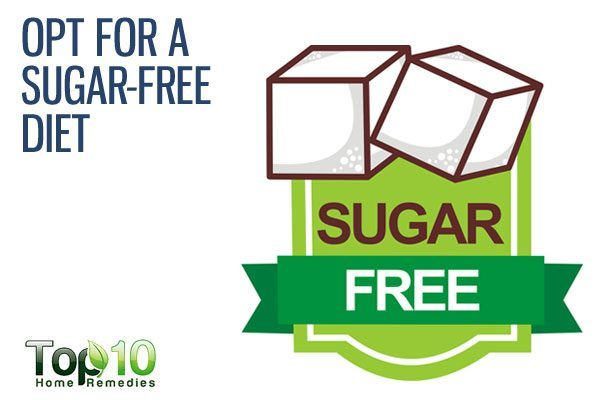 take sugar-free diet