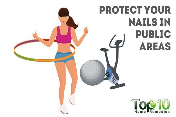protect your nails in public areas