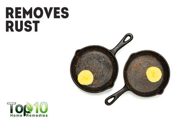potatoes help remove rust