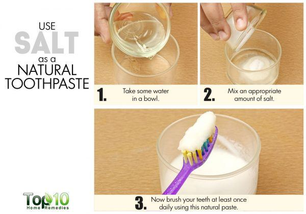 salt as natural toothpaste